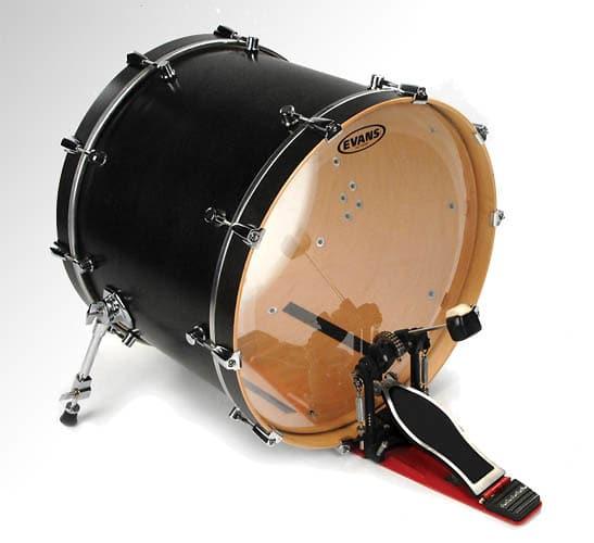 20 evans non level 360 eq3 clear batter side bass drum head reverb. Black Bedroom Furniture Sets. Home Design Ideas