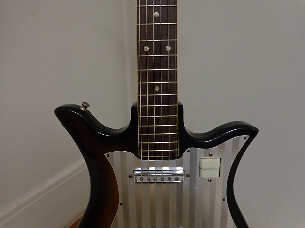 1960 39 s decca electric guitar japan teisco tulip w case reverb. Black Bedroom Furniture Sets. Home Design Ideas