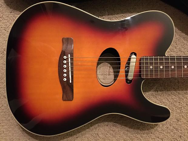 Rare Fender Telecoustic Deluxe Telecaster Acoustic