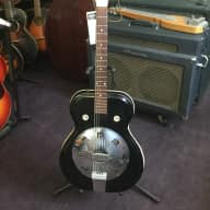 <p>Supro Folkstar Resonator  circa 1964 Black</p>  for sale