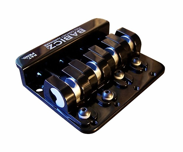 babicz full contact hardware 4 string bass bridge black reverb. Black Bedroom Furniture Sets. Home Design Ideas