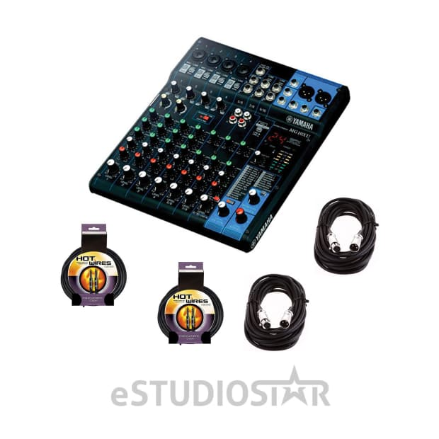 yamaha mg10xu 10 input stereo mixer w xlr and instumental reverb. Black Bedroom Furniture Sets. Home Design Ideas