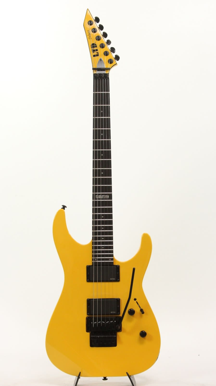 esp ltd m 1000 yellow electric guitar throwback reverb. Black Bedroom Furniture Sets. Home Design Ideas