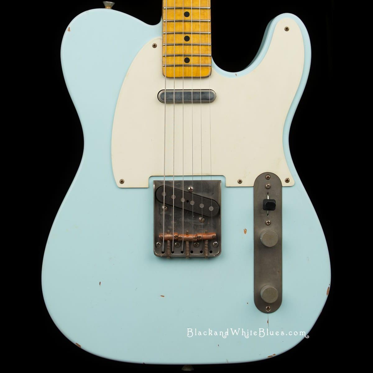 Nash Guitars T-63 Light Distress in Sonic Blue