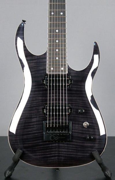 halo custom guitars merus 7 2015 transparent black evertune bare knuckle juggernaut pickups. Black Bedroom Furniture Sets. Home Design Ideas