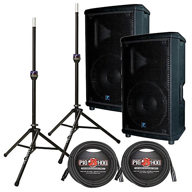 yorkville nx25p 2 12 powered speaker pair with speaker reverb. Black Bedroom Furniture Sets. Home Design Ideas