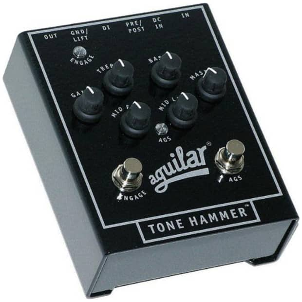aguilar tone hammer 3 band preamp di overdrive bass effect reverb. Black Bedroom Furniture Sets. Home Design Ideas