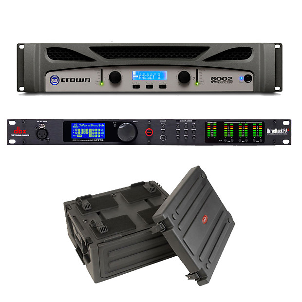 crown xti 6002 power amplifier dbx driverack pa2 loudspeaker reverb. Black Bedroom Furniture Sets. Home Design Ideas