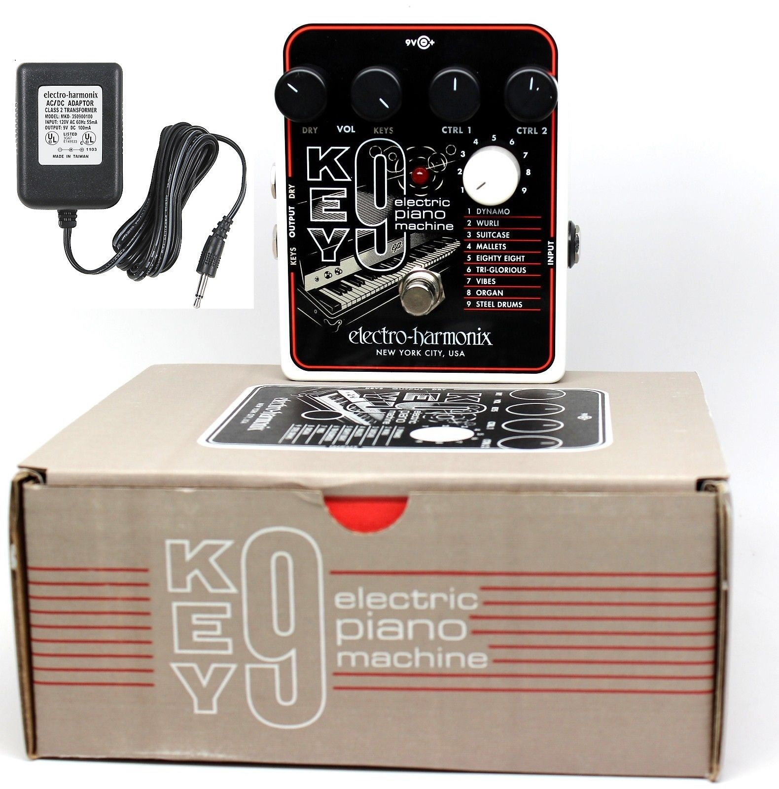 Electro Harmonix EHX KEY 9 Electric Piano Machine KEY 9 Guitar Pedal with AC Adapter