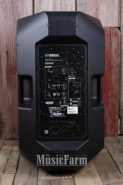 yamaha dxr12 2 way powered loudspeaker 1100 watt 1 x 12 bi reverb. Black Bedroom Furniture Sets. Home Design Ideas