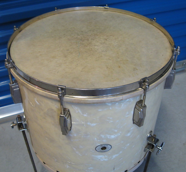 Ludwig ludwig 14x16 floor tom 1940s white avalon pearl for 16 x 14 floor tom