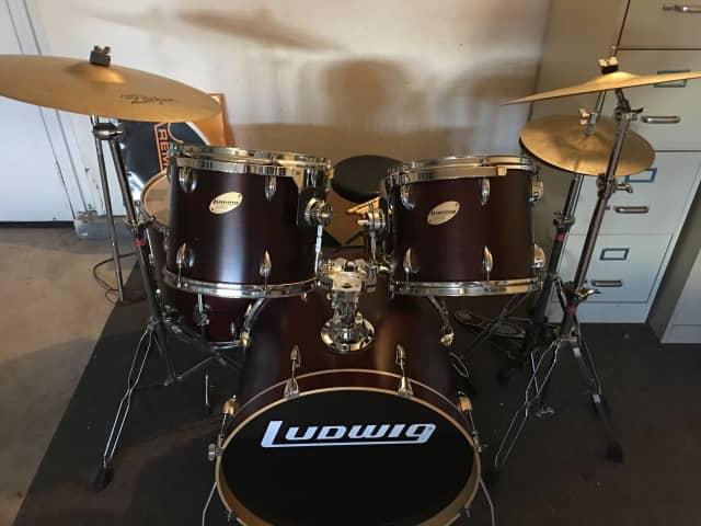 Ludwig Accent CS Custom Elite Fusion 5-Piece Drum Set ...