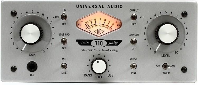 Universal Audio 710 Twin Finity Mic Preamplifier Brand New