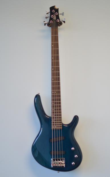 cort action v see through blue 5 string bass reverb. Black Bedroom Furniture Sets. Home Design Ideas