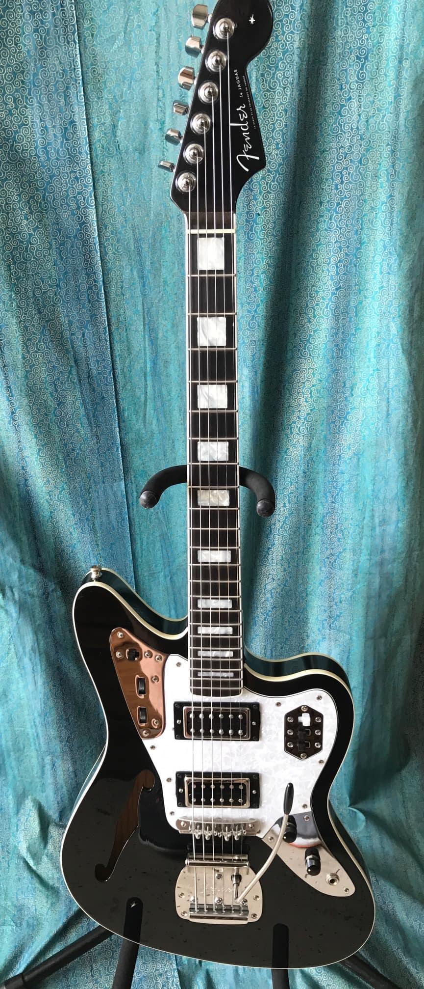 Fender Locking Tuners >> Fender Jaguar Thinline - Custom w/ Hard Shell Case | Reverb