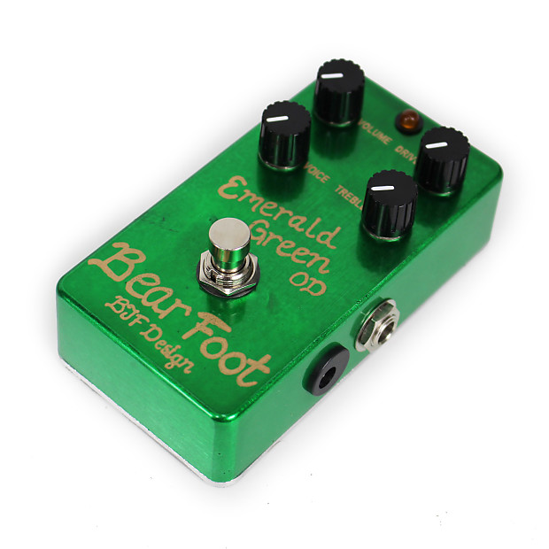 brand new bearfoot fx emerald green od overdrive pedal reverb. Black Bedroom Furniture Sets. Home Design Ideas