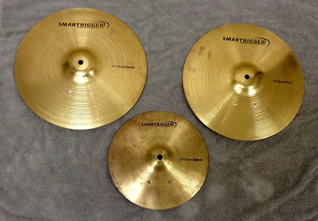 set of 3 smartrigger metal electronic cymbals two 13 crashes reverb. Black Bedroom Furniture Sets. Home Design Ideas