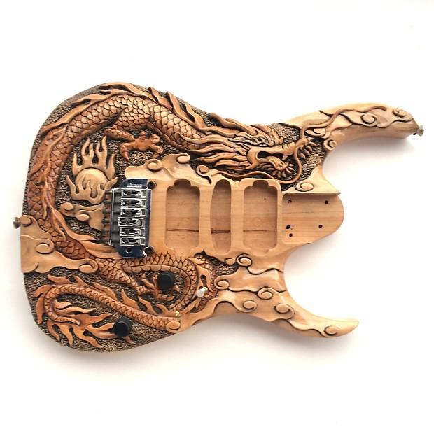 Diy guitar kit ibanez project builder custom carved dragon
