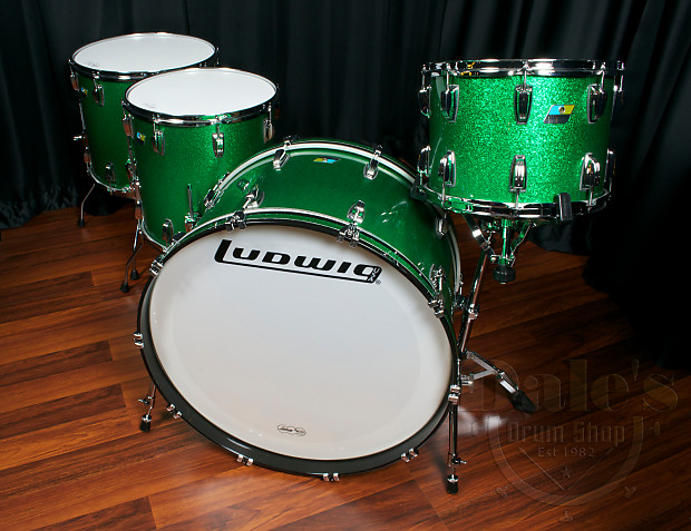 Ludwig Drum Sets Usa Classic Maple Green Sparkle 14 Quot 16