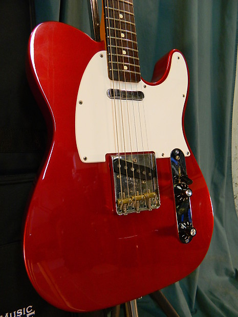 Fender Muddy Waters Telecaster 2004 Candy Apple Red | Reverb