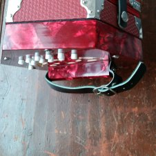 Red 20 Button Concertina- Free Shipping! image