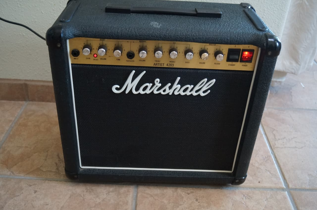 marshall artist 4203 30w tube combo amp w celestion v30 reverb. Black Bedroom Furniture Sets. Home Design Ideas