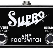 Supro Model SF2 Reverb/Tremolo on/off Footswitch - NEW image