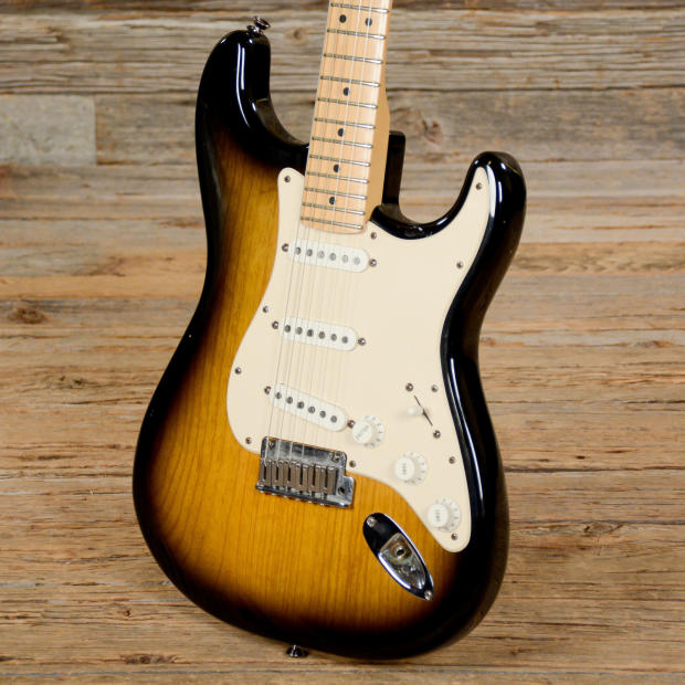 fender american standard stratocaster 50th anniversary sunburst used s363 reverb. Black Bedroom Furniture Sets. Home Design Ideas