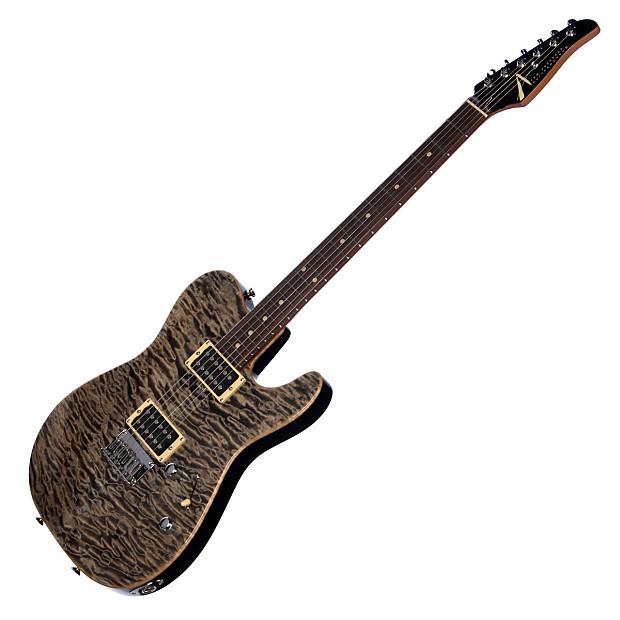 tom anderson guitars cobra natural black quilt top custom reverb. Black Bedroom Furniture Sets. Home Design Ideas