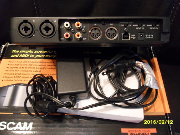 tascam us 600 computer recording monitor audio interface mac pc 6 in 4 out reverb. Black Bedroom Furniture Sets. Home Design Ideas