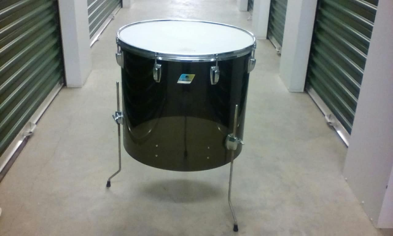 Ludwig very rare 20 by 18 smoke vistalite floor tom 1970 for 18 inch floor tom for sale