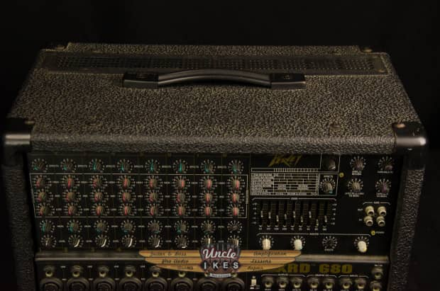 used peavey xrd 680 powered mixer 400 watts digital effects reverb. Black Bedroom Furniture Sets. Home Design Ideas