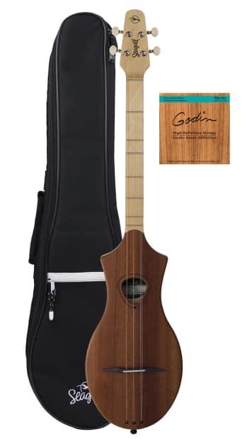seagull merlin dulcimer guitar w gig bag strings natural reverb. Black Bedroom Furniture Sets. Home Design Ideas