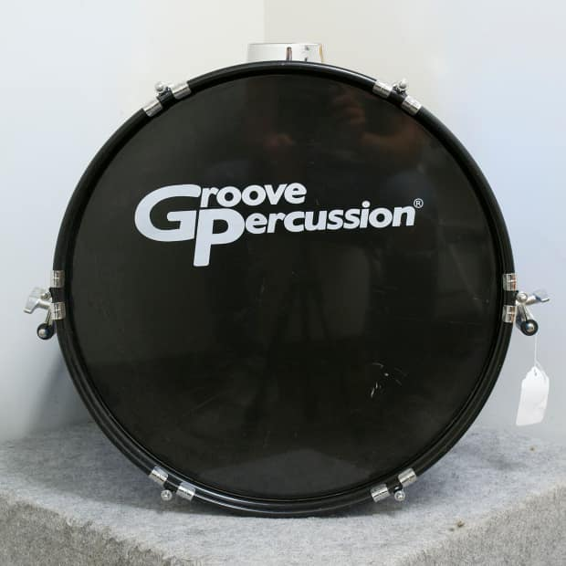 groove percussion 14 x 18 kick drum blue sparkle wrap reverb. Black Bedroom Furniture Sets. Home Design Ideas