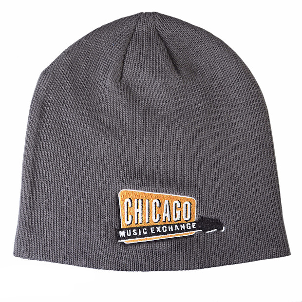 Chicago Music Exchange Winter Slouch Beanie Hat Grey w/Embroidered ...