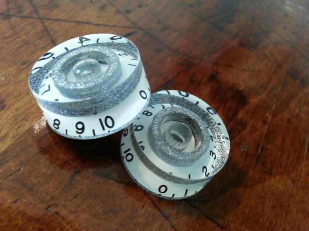 jat custom guitar parts speed knobs white silver flake reverb. Black Bedroom Furniture Sets. Home Design Ideas