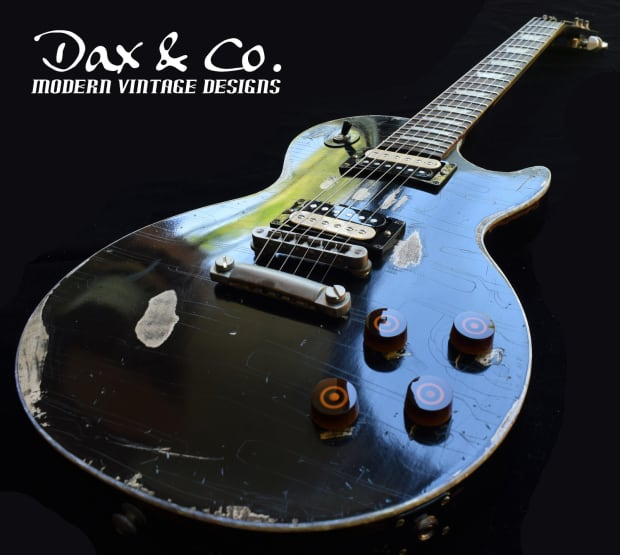 Killer Gibson Les Paul Quot Old Black Quot Style Dax Amp Co Relic