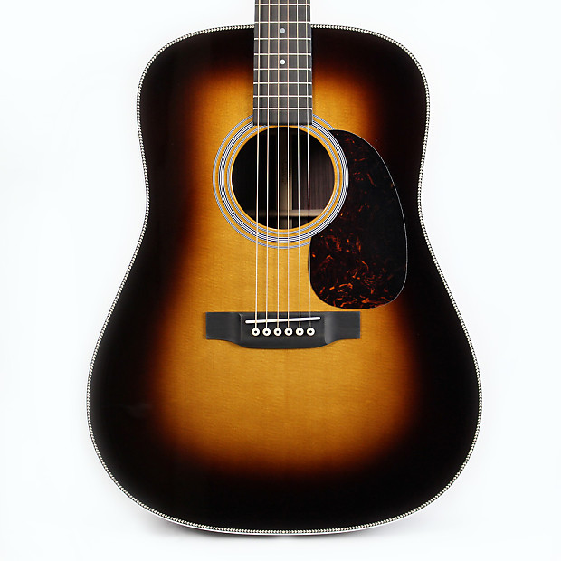martin hd 28 dreadnought acoustic guitar sunburst reverb. Black Bedroom Furniture Sets. Home Design Ideas