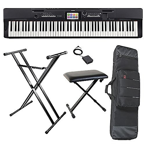 Casio px360bkk3 digital piano with casio x bench casio x reverb Keyboard stand and bench