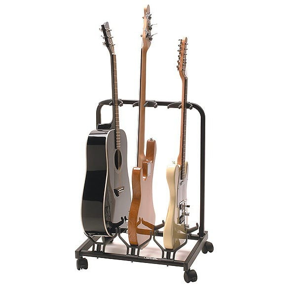 quik lok gs 430 universal multiple guitar stand holds 3 reverb. Black Bedroom Furniture Sets. Home Design Ideas