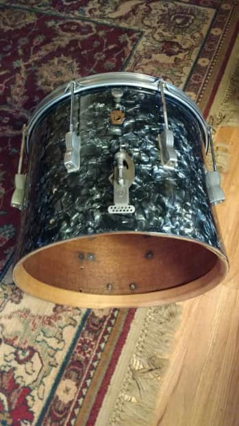 1950 39 s ludwig wfl 15 snare drum or floor tom conversion for 15 floor tom