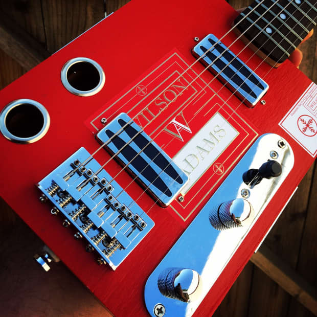 Funguy Mojo Guitars Six String Electric Cigar Box Guitar