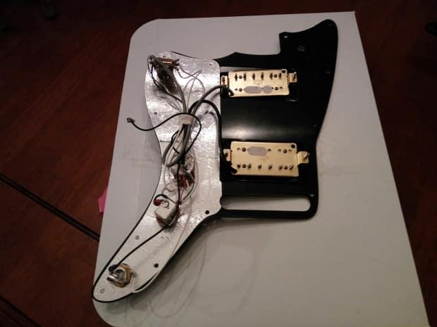 Fender Jazzmaster Humbuckers   Loaded Hh Pickguard Offset