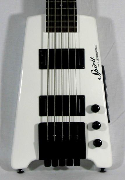 Steinberger Spirit White Bass Guitar Reverb