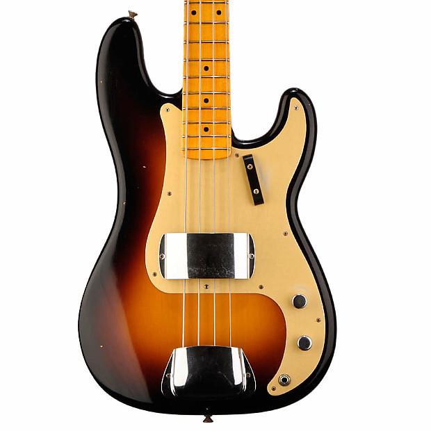 fender 1957 custom shop precision bass journey man 2 tone reverb. Black Bedroom Furniture Sets. Home Design Ideas