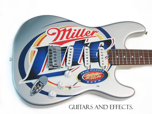 Squire By Fender Miller Lite Promotional Stratocaster 2005