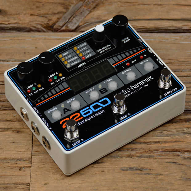 electro harmonix 22500 dual stereo looper pedal reverb