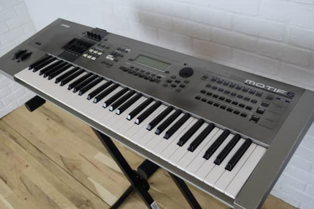 yamaha motif 6 61 key keyboard synth excellent used reverb. Black Bedroom Furniture Sets. Home Design Ideas