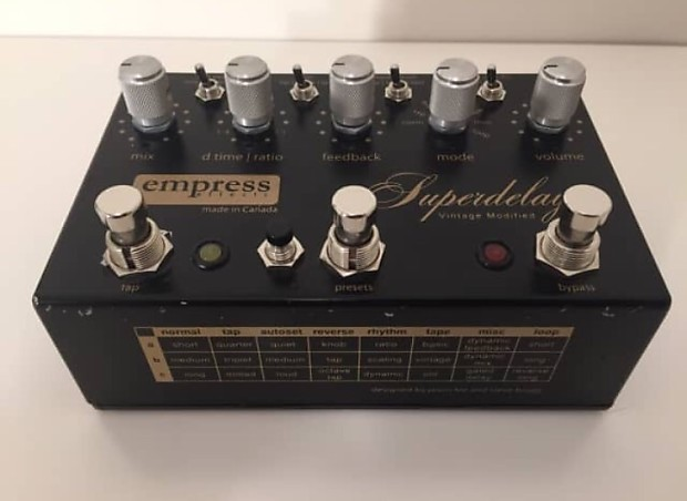 empress vintage modified superdelay manual