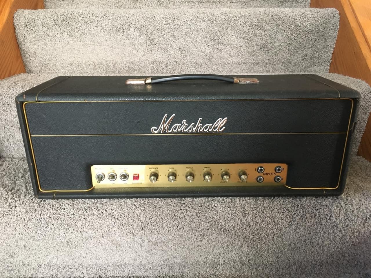1969 marshall plexi 50 watt head 50w vintage incredible reverb. Black Bedroom Furniture Sets. Home Design Ideas